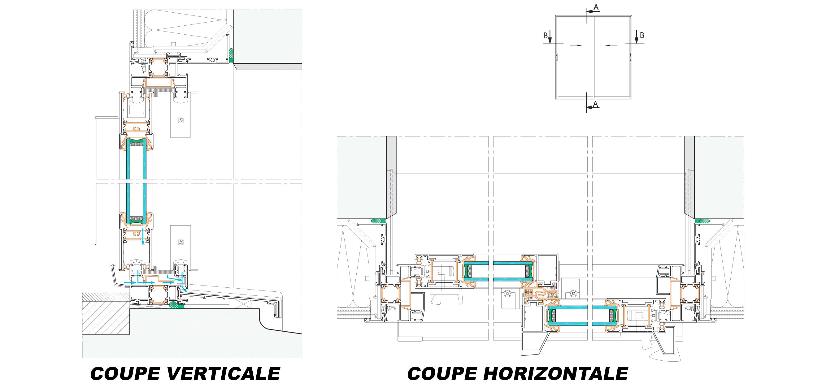 Plan Porte À Galandage baieeco - fenêtres et portes-fenêtres